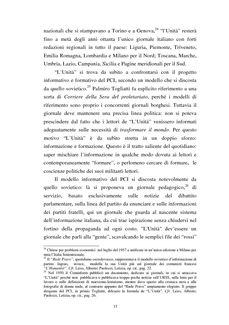 Anteprima della tesi: Le trasformazioni culturali e strutturali de ''L'Unità'', Pagina 13