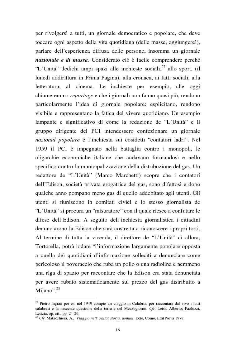 Anteprima della tesi: Le trasformazioni culturali e strutturali de ''L'Unità'', Pagina 14