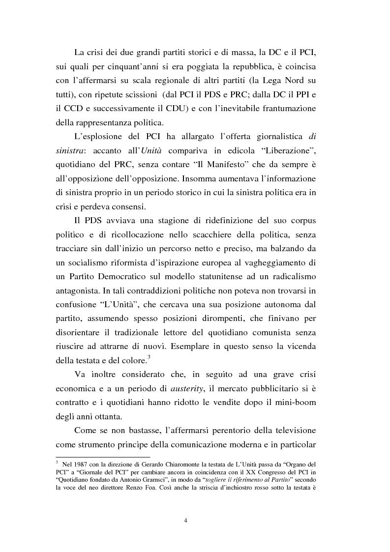 Anteprima della tesi: Le trasformazioni culturali e strutturali de ''L'Unità'', Pagina 2