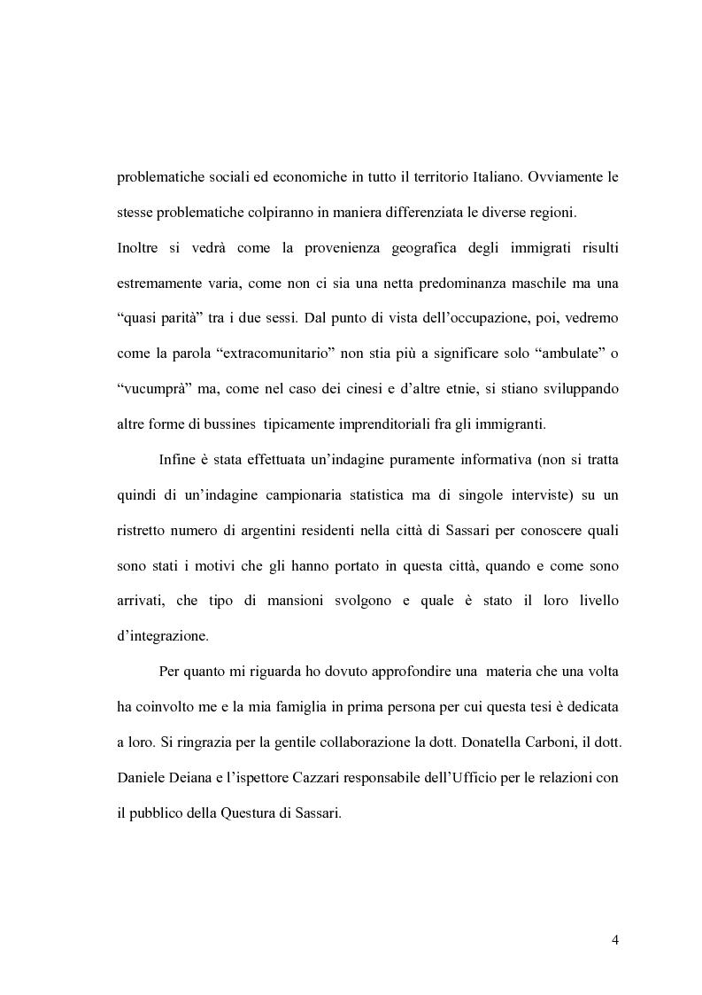 Anteprima della tesi: Popolazione e mobilità: l'immigrazione in Italia e in Sardegna, Pagina 2