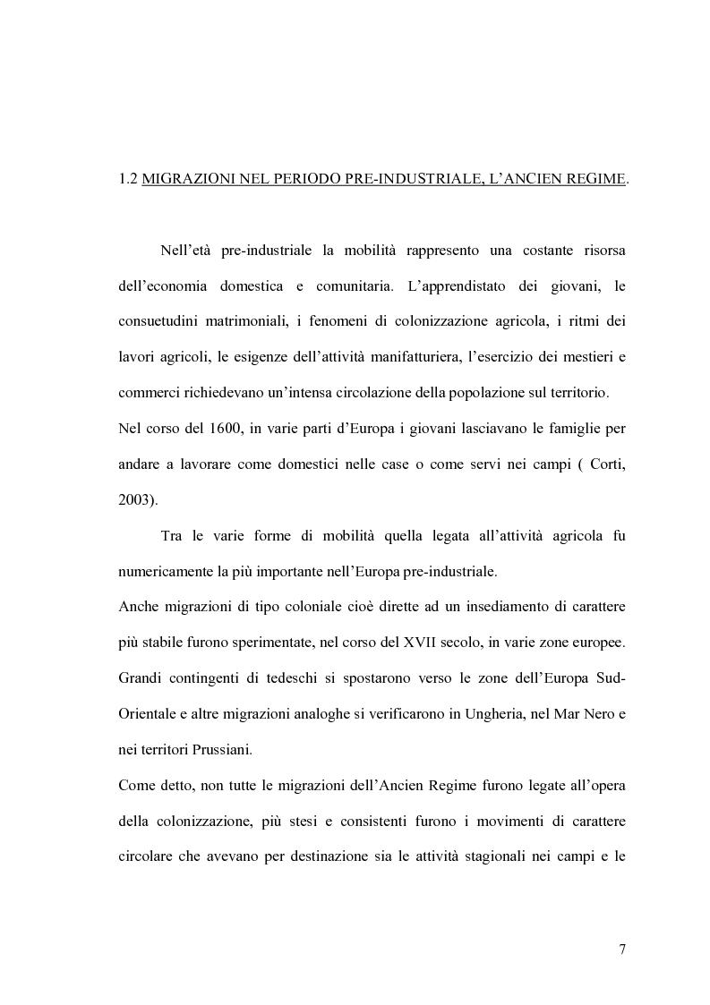 Anteprima della tesi: Popolazione e mobilità: l'immigrazione in Italia e in Sardegna, Pagina 5