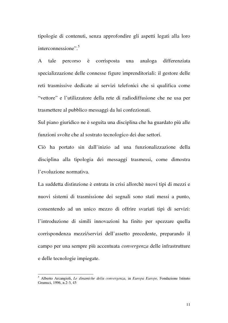 Anteprima della tesi: Il diritto alla comunicazione nel nuovo panorama tecnologico della convergenza multimediale, Pagina 10
