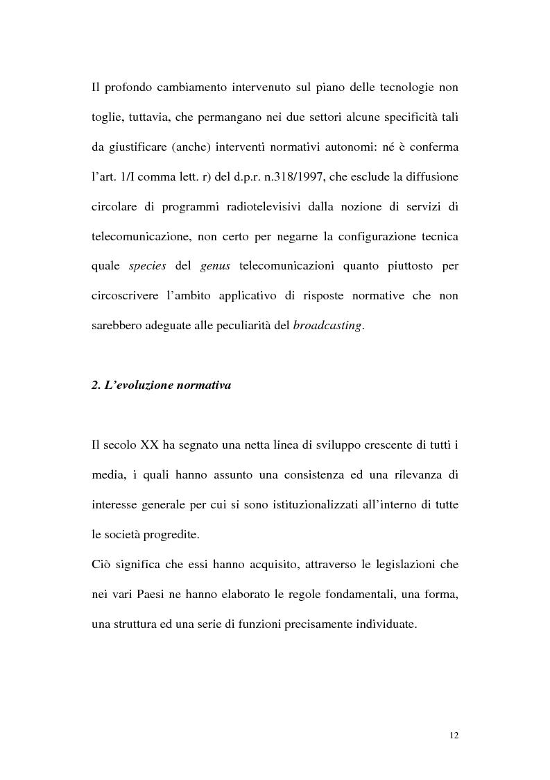 Anteprima della tesi: Il diritto alla comunicazione nel nuovo panorama tecnologico della convergenza multimediale, Pagina 11