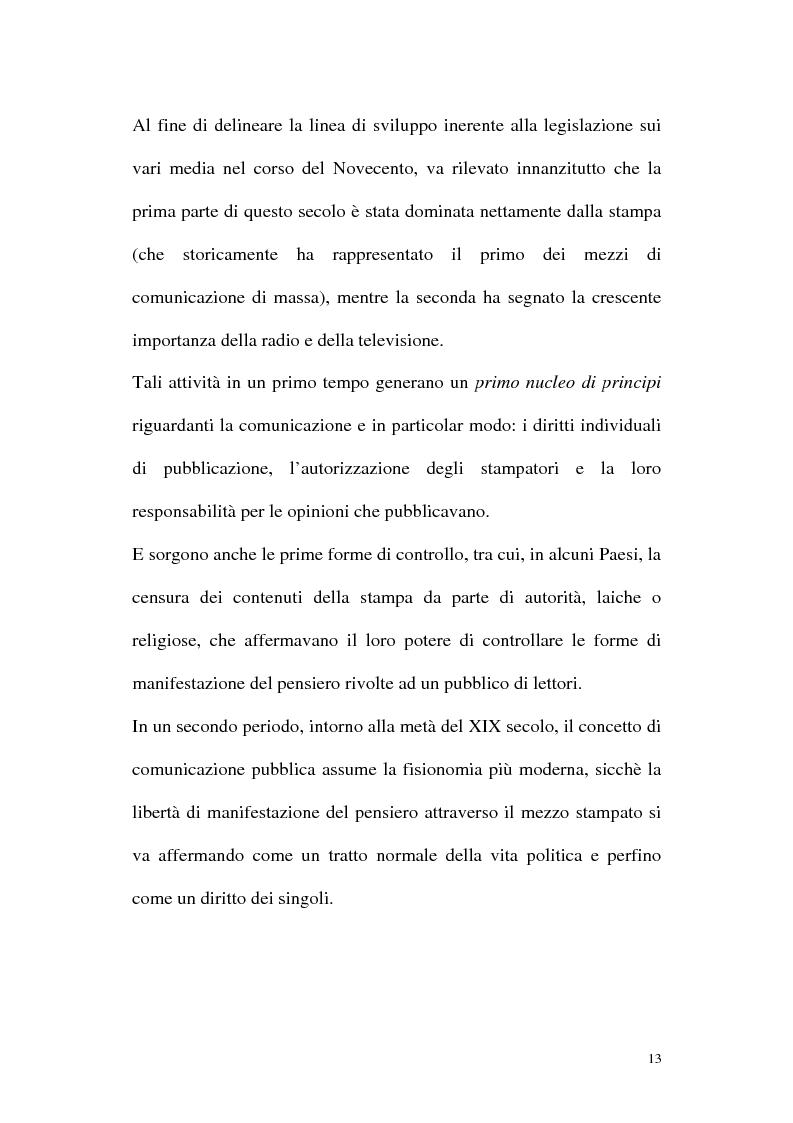 Anteprima della tesi: Il diritto alla comunicazione nel nuovo panorama tecnologico della convergenza multimediale, Pagina 12