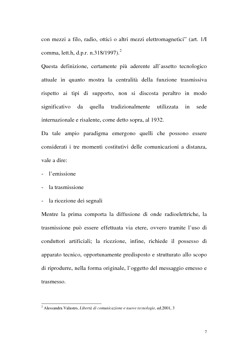 Anteprima della tesi: Il diritto alla comunicazione nel nuovo panorama tecnologico della convergenza multimediale, Pagina 6