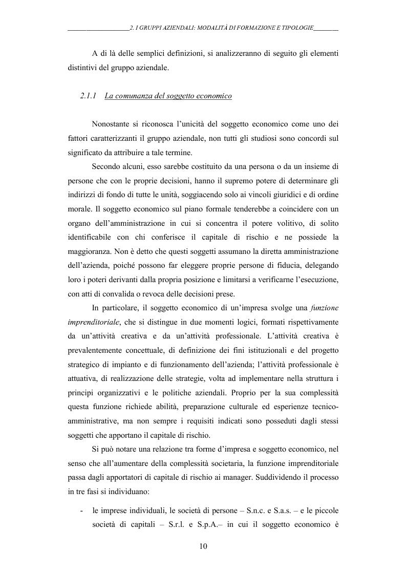 Anteprima della tesi: I gruppi: una realtà emergente ed il bilancio consolidato come sistema informativo. Il caso Hotel Together, Pagina 14