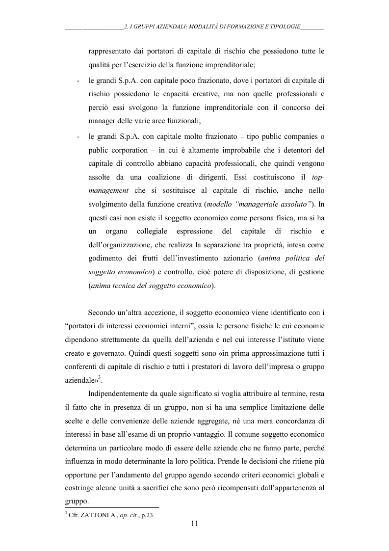 Anteprima della tesi: I gruppi: una realtà emergente ed il bilancio consolidato come sistema informativo. Il caso Hotel Together, Pagina 15