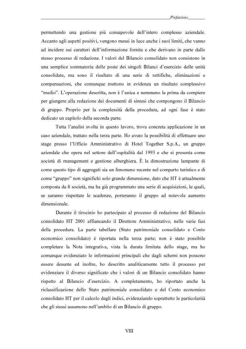 Anteprima della tesi: I gruppi: una realtà emergente ed il bilancio consolidato come sistema informativo. Il caso Hotel Together, Pagina 3