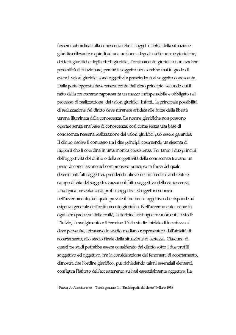 Anteprima della tesi: Accertamento negoziale, Pagina 2