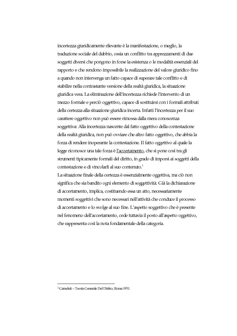 Anteprima della tesi: Accertamento negoziale, Pagina 3