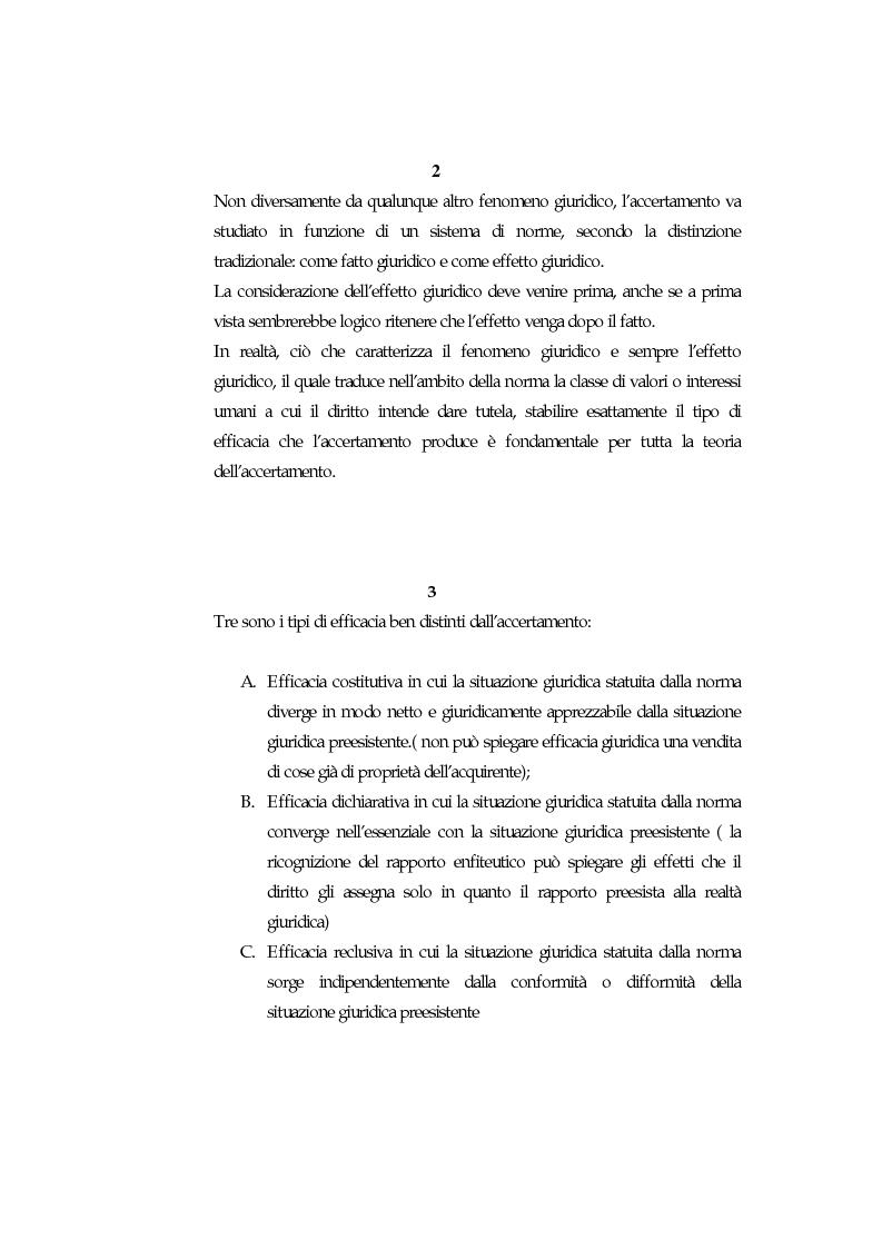 Anteprima della tesi: Accertamento negoziale, Pagina 4