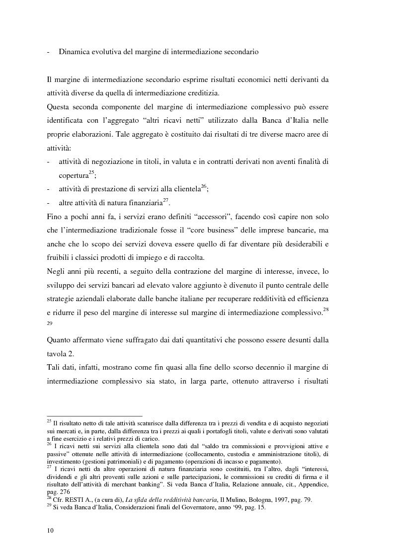 Anteprima della tesi: Segmenti di mercato e fidelizzazione della clientela bancaria. Il caso Gruppo Monte dei Paschi di Siena, Pagina 14