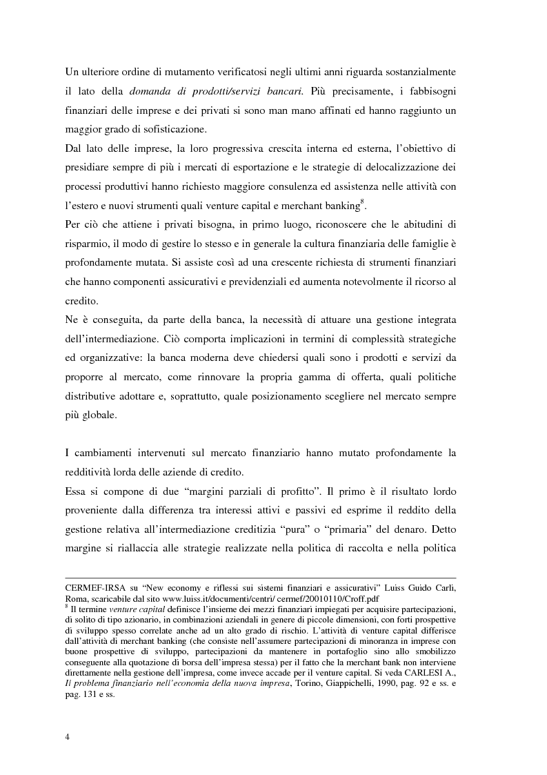 Anteprima della tesi: Segmenti di mercato e fidelizzazione della clientela bancaria. Il caso Gruppo Monte dei Paschi di Siena, Pagina 8