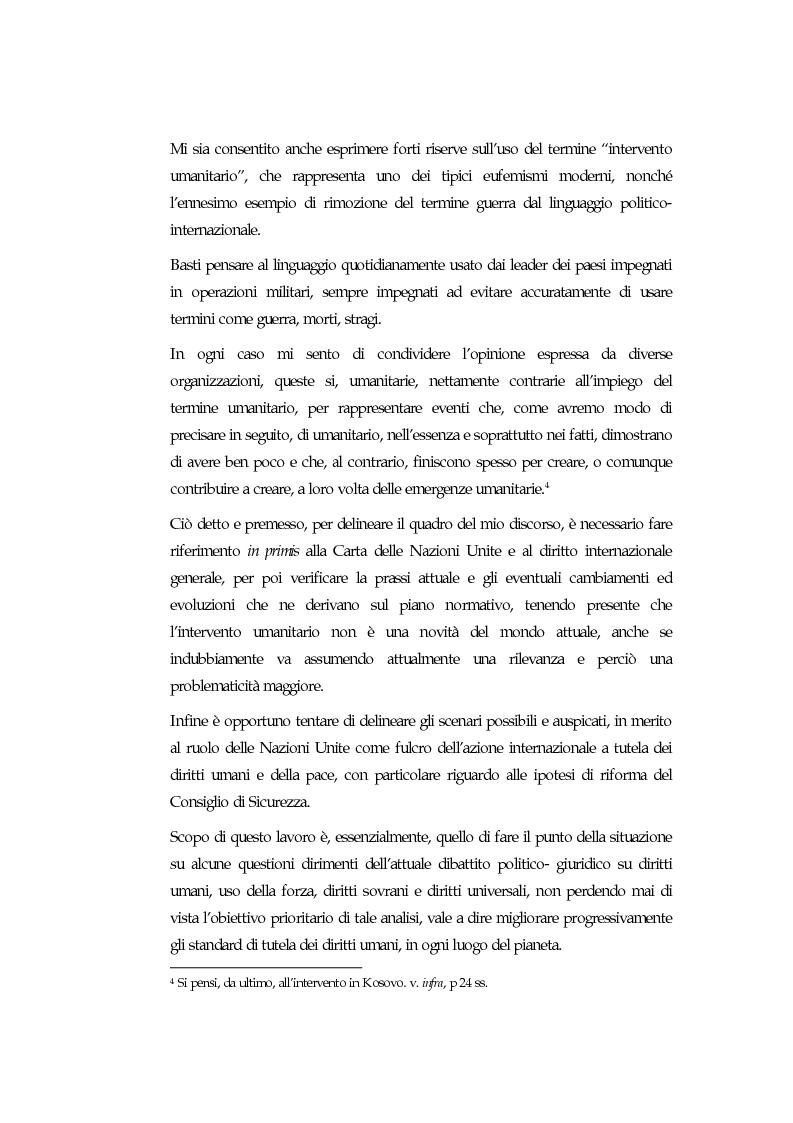 Anteprima della tesi: Sovranità, diritti umani e uso della forza: l'intervento armato ''umanitario'', Pagina 2