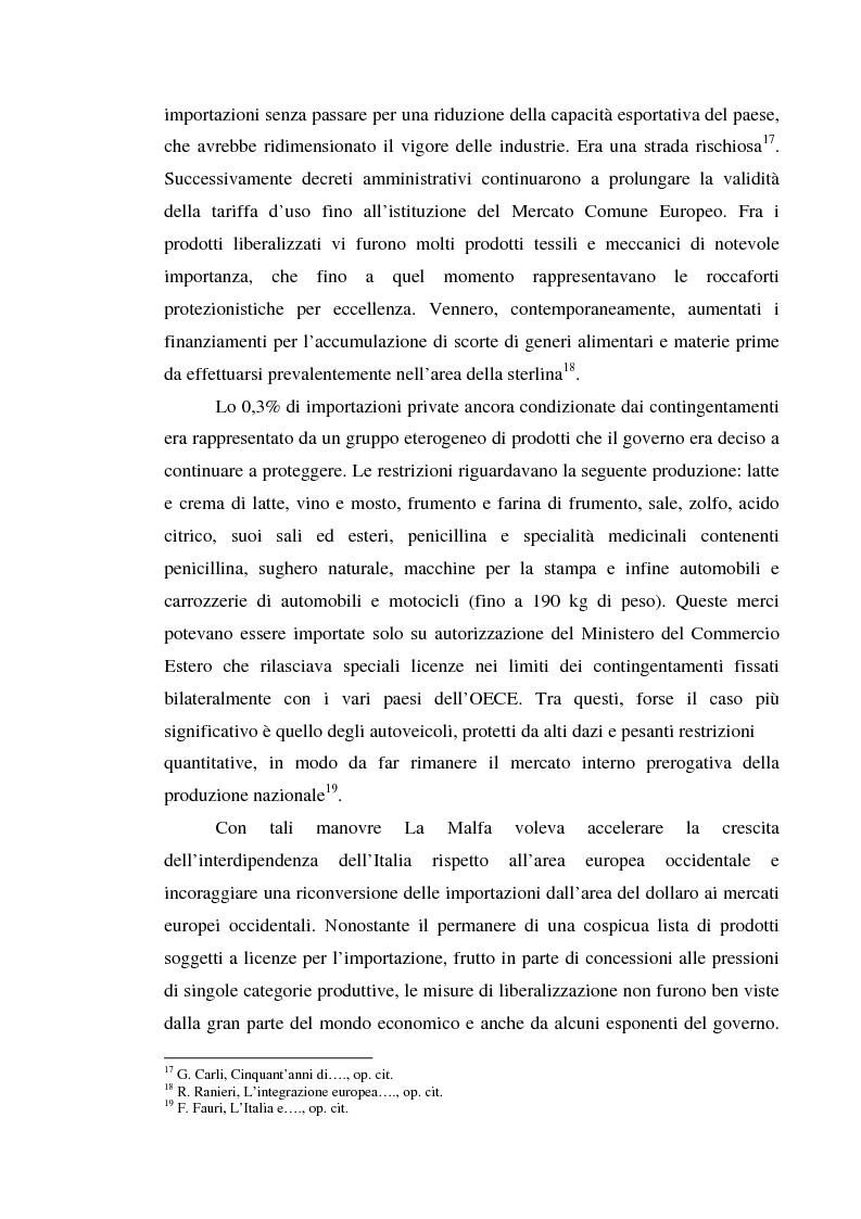 Anteprima della tesi: Alle origini del miracolo economico italiano? L'Italia e l'unione doganale della Comunità Economica Europea 1958-1968, Pagina 12