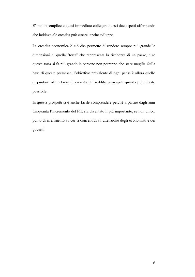 Anteprima della tesi: La crescita economica come sviluppo fra benessere e spesa pubblica, Pagina 4