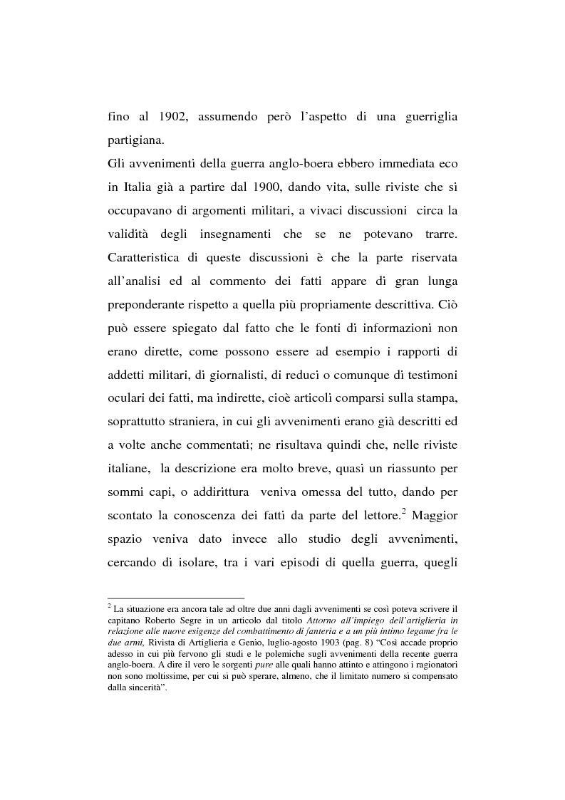 Anteprima della tesi: L'esperienza inutile. L'esempio dei conflitti anglo-boero e russo-giapponese e l'impreparazione italiana alla guerra di trincea (1900-1914), Pagina 11