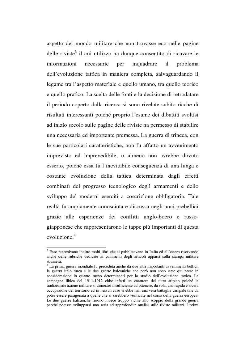 Anteprima della tesi: L'esperienza inutile. L'esempio dei conflitti anglo-boero e russo-giapponese e l'impreparazione italiana alla guerra di trincea (1900-1914), Pagina 3
