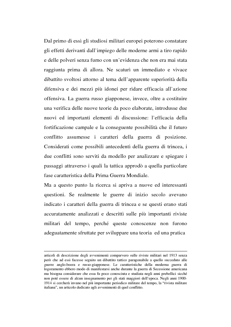 Anteprima della tesi: L'esperienza inutile. L'esempio dei conflitti anglo-boero e russo-giapponese e l'impreparazione italiana alla guerra di trincea (1900-1914), Pagina 4