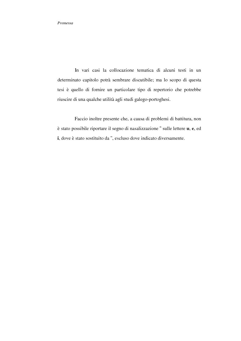 Anteprima della tesi: La figura della donna nelle Cantigas de escarnho e de maldizer: repertorio tematico, Pagina 2