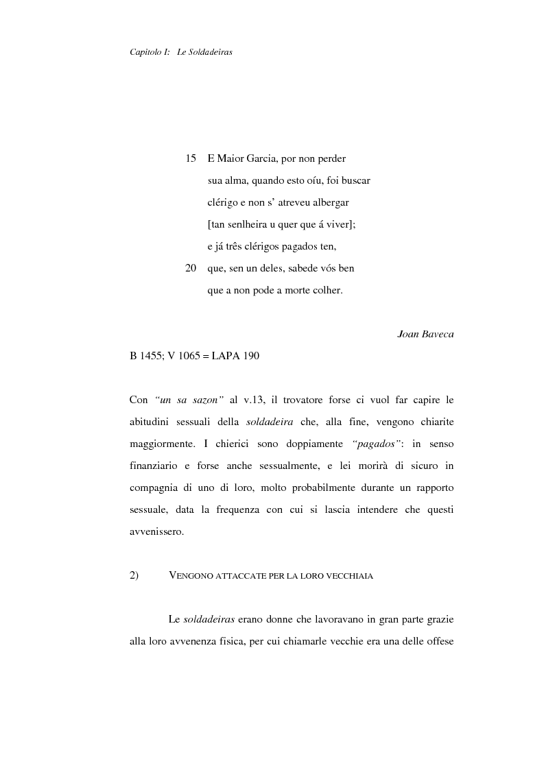 Anteprima della tesi: La figura della donna nelle Cantigas de escarnho e de maldizer: repertorio tematico, Pagina 8