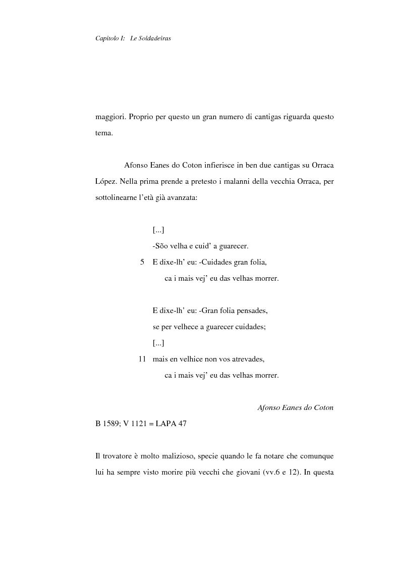 Anteprima della tesi: La figura della donna nelle Cantigas de escarnho e de maldizer: repertorio tematico, Pagina 9