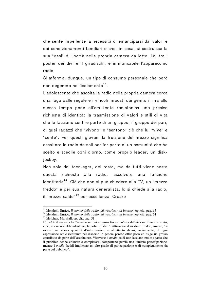 Anteprima della tesi: Il caso Radio Deejay: una comunicazione polimediale, Pagina 11
