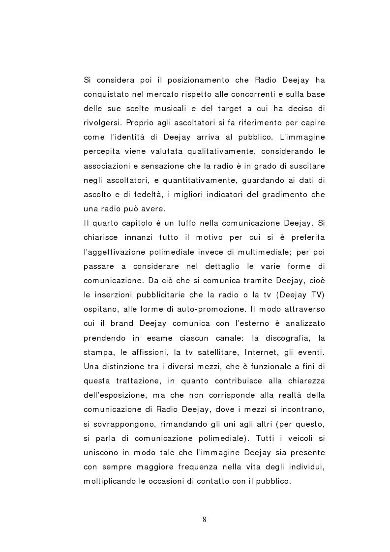 Anteprima della tesi: Il caso Radio Deejay: una comunicazione polimediale, Pagina 3