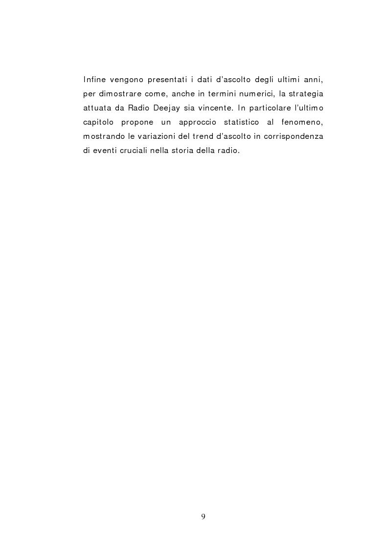 Anteprima della tesi: Il caso Radio Deejay: una comunicazione polimediale, Pagina 4