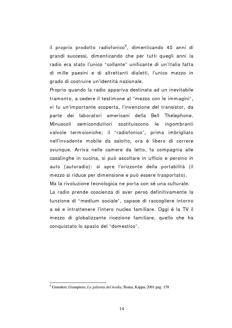 Anteprima della tesi: Il caso Radio Deejay: una comunicazione polimediale, Pagina 9