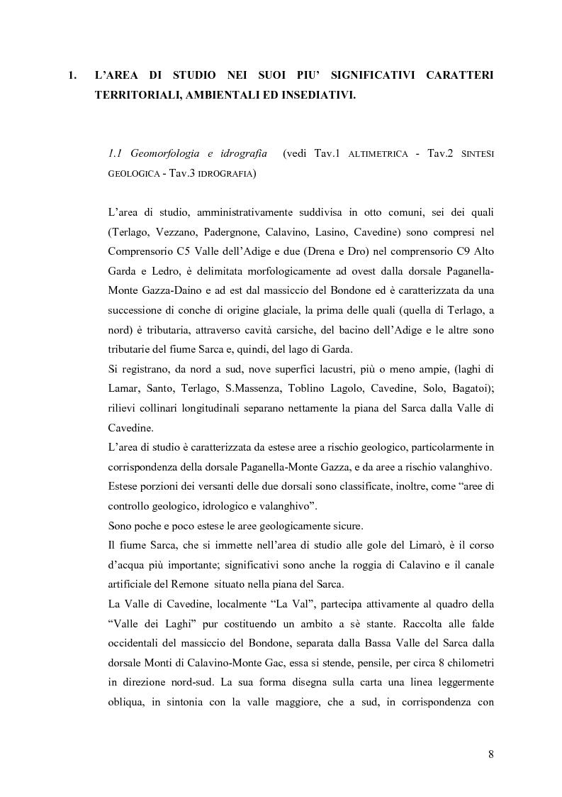 Anteprima della tesi: La riqualificazione ed il restauro territoriale della Valle dei Laghi e della Valle di Cavedine (Trentino Occidentale), Pagina 3