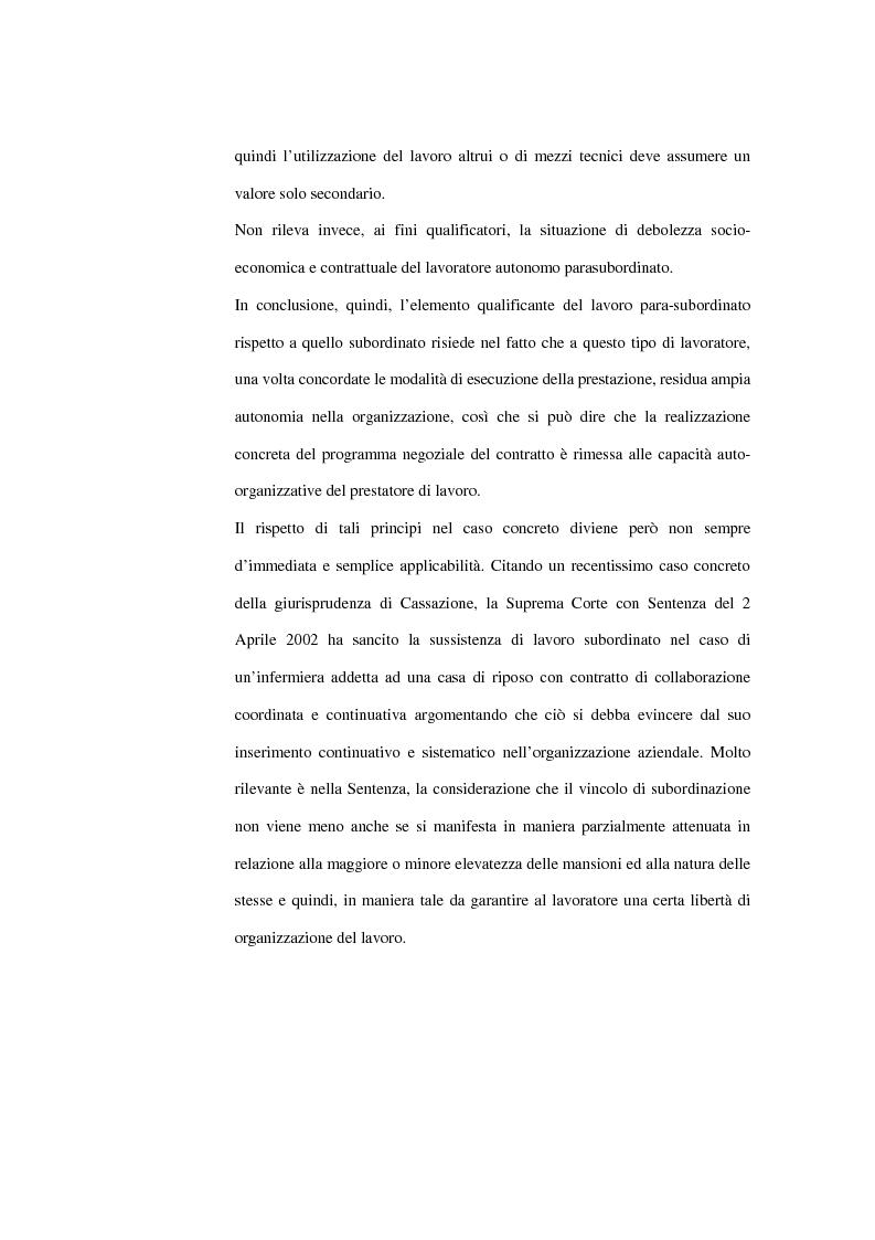 Anteprima della tesi: La contrattazione collettiva dei rapporti di collaborazione coordinata e continuativa, Pagina 11