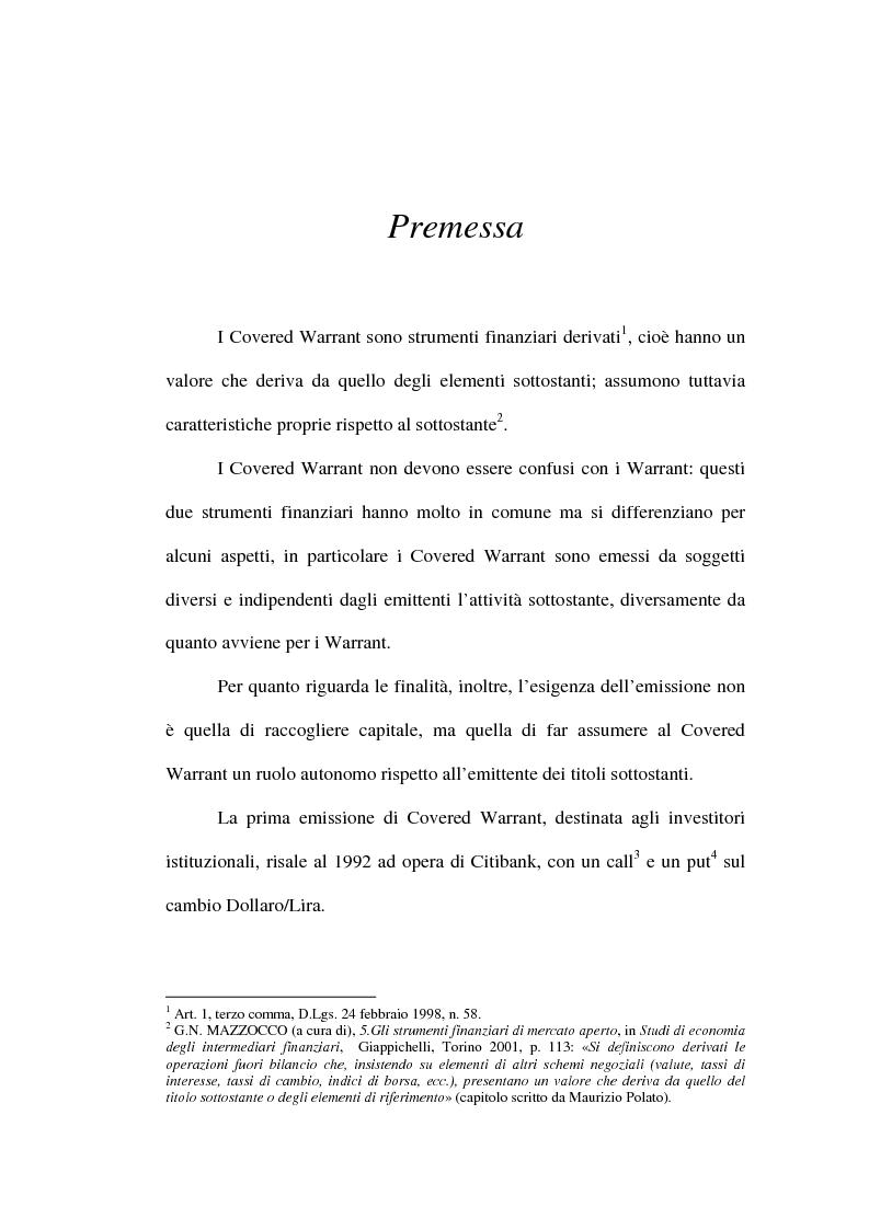 Anteprima della tesi: Super Stock e Discount Certificate, Pagina 1