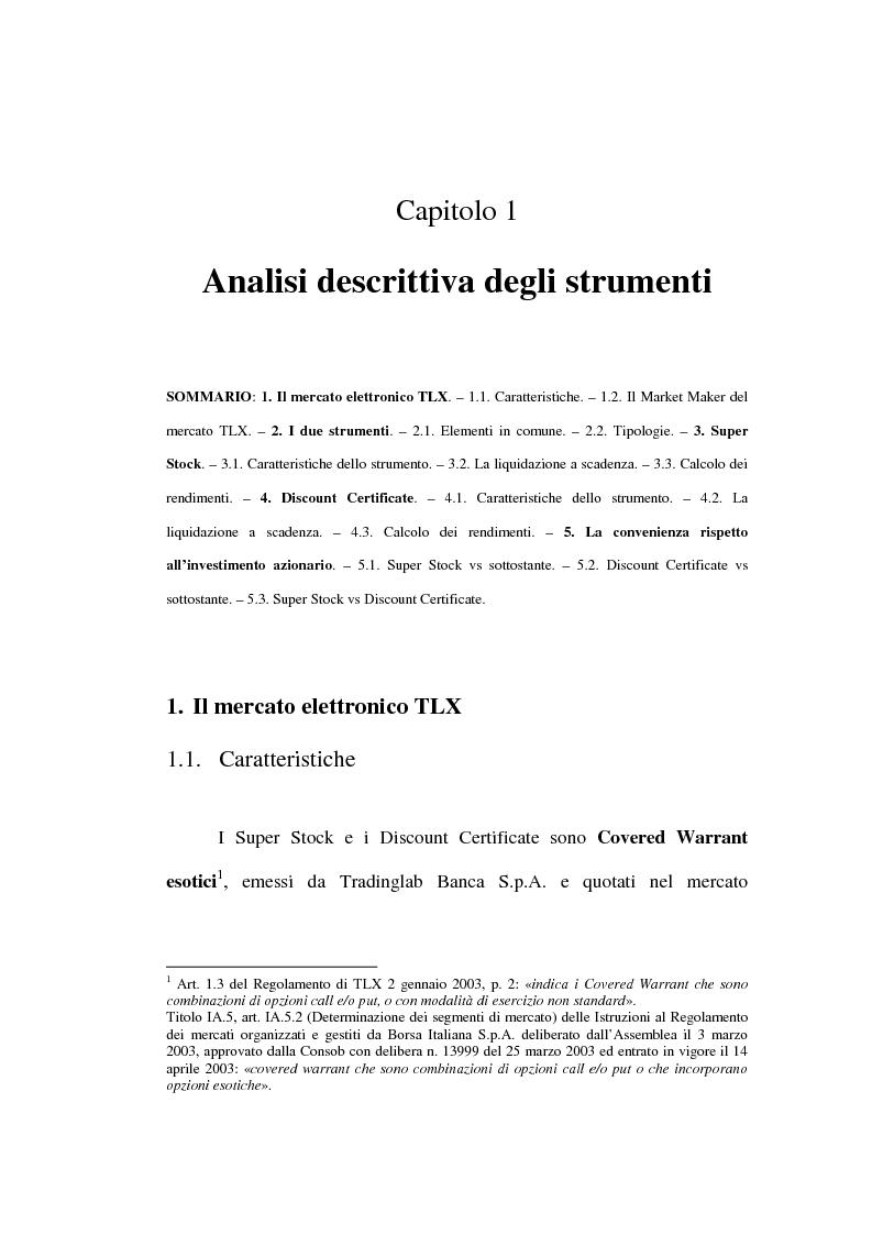 Anteprima della tesi: Super Stock e Discount Certificate, Pagina 8