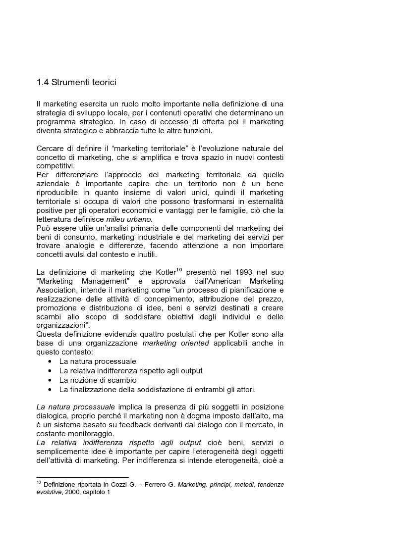 Anteprima della tesi: Marketing territoriale per lo sviluppo locale: il caso ''Corallo e Nuraghi'', Pagina 13