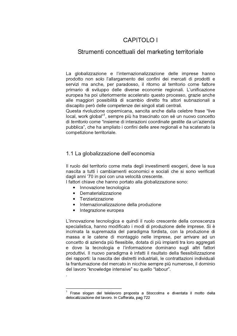 Anteprima della tesi: Marketing territoriale per lo sviluppo locale: il caso ''Corallo e Nuraghi'', Pagina 4