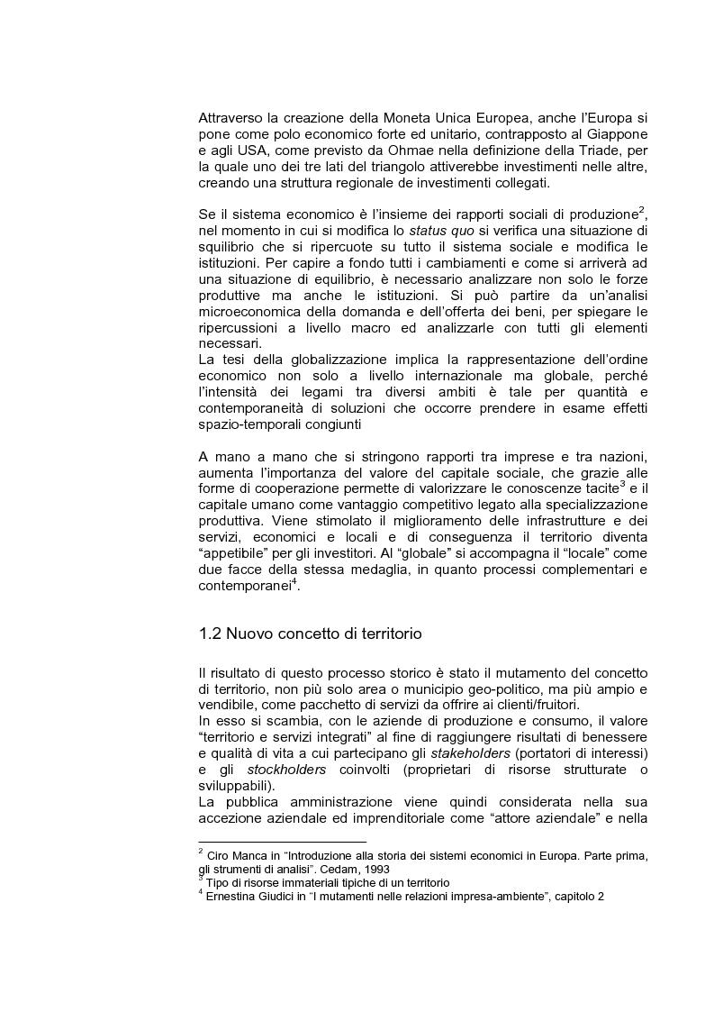 Anteprima della tesi: Marketing territoriale per lo sviluppo locale: il caso ''Corallo e Nuraghi'', Pagina 6