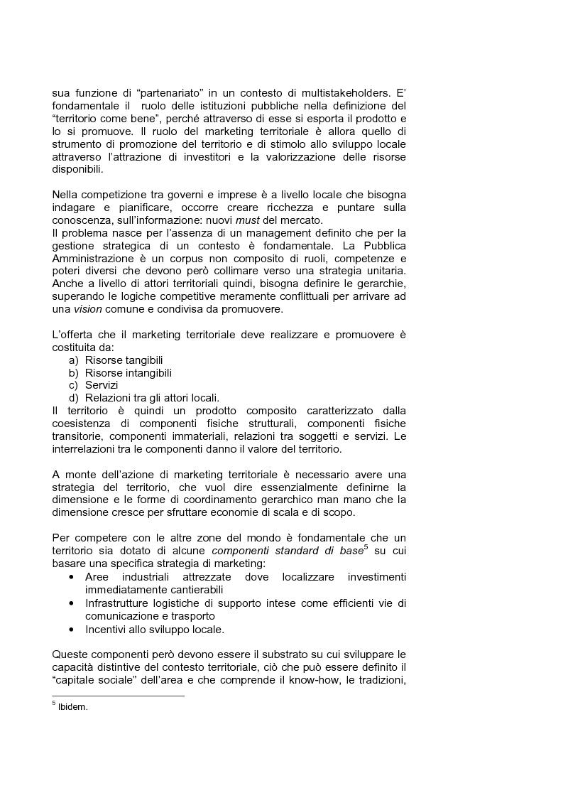 Anteprima della tesi: Marketing territoriale per lo sviluppo locale: il caso ''Corallo e Nuraghi'', Pagina 7