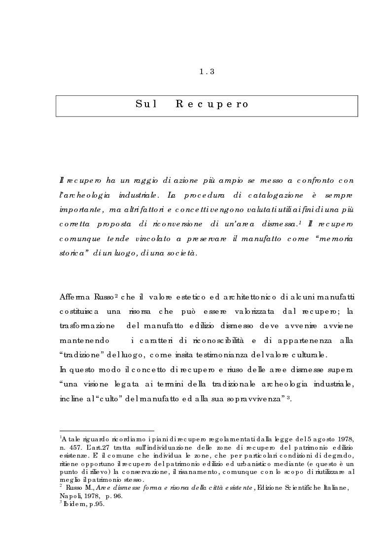 Anteprima della tesi: Recupero urbano ex cementificio Sacci-Corsalone di Arezzo, Pagina 11