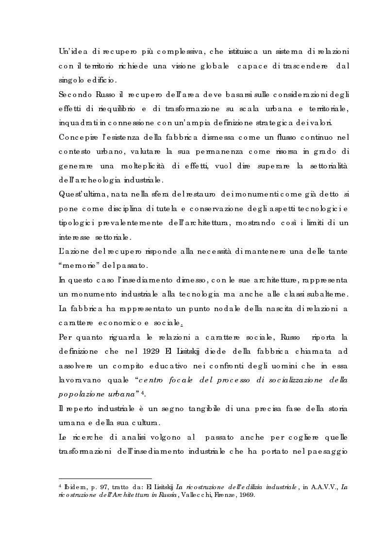 Anteprima della tesi: Recupero urbano ex cementificio Sacci-Corsalone di Arezzo, Pagina 12