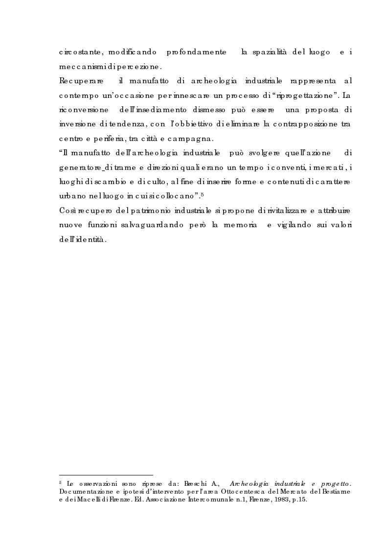 Anteprima della tesi: Recupero urbano ex cementificio Sacci-Corsalone di Arezzo, Pagina 13