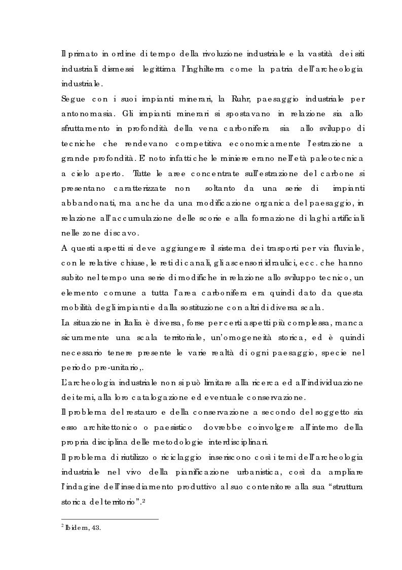 Anteprima della tesi: Recupero urbano ex cementificio Sacci-Corsalone di Arezzo, Pagina 7