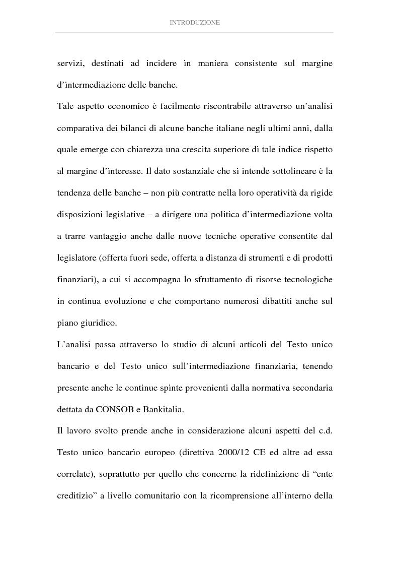 Anteprima della tesi: L'attività di intermediazione finanziaria svolta dalle banche, Pagina 2