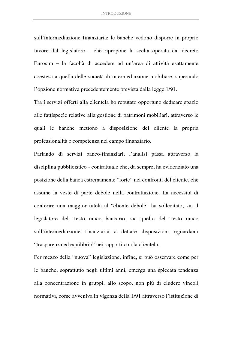 Anteprima della tesi: L'attività di intermediazione finanziaria svolta dalle banche, Pagina 4