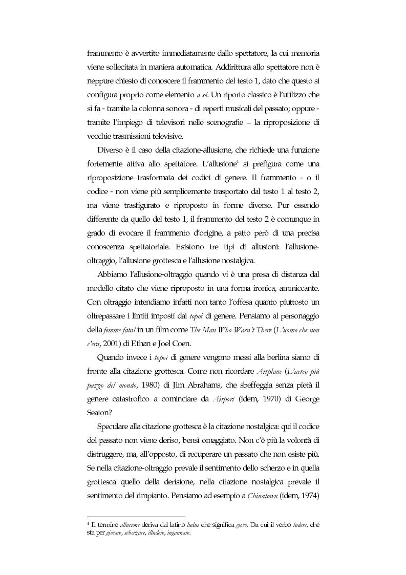 Anteprima della tesi: La citazione nel cinema di Quentin Tarantino, Pagina 2