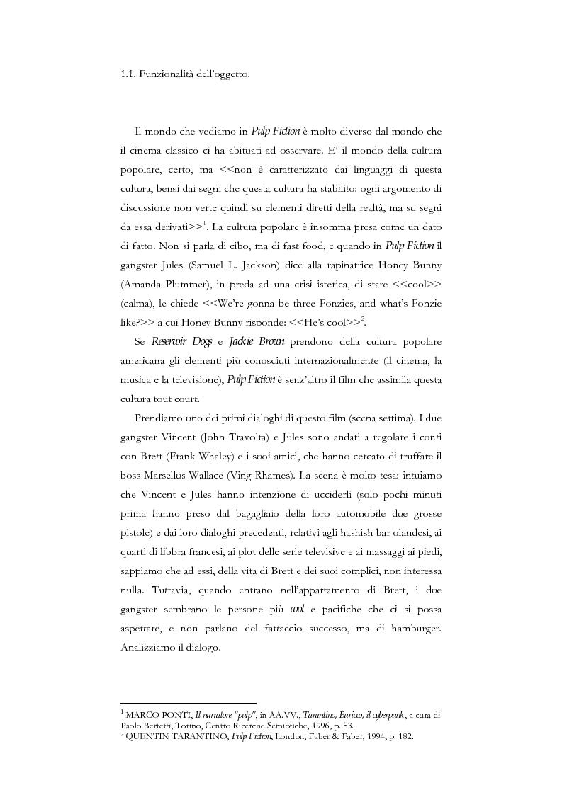 Anteprima della tesi: La citazione nel cinema di Quentin Tarantino, Pagina 5
