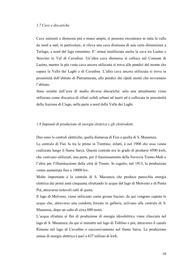 Anteprima della tesi: La riqualificazione ed il restauro territoriale della Valle dei Laghi e di Cavedine - Trentino Occidentale, Pagina 11
