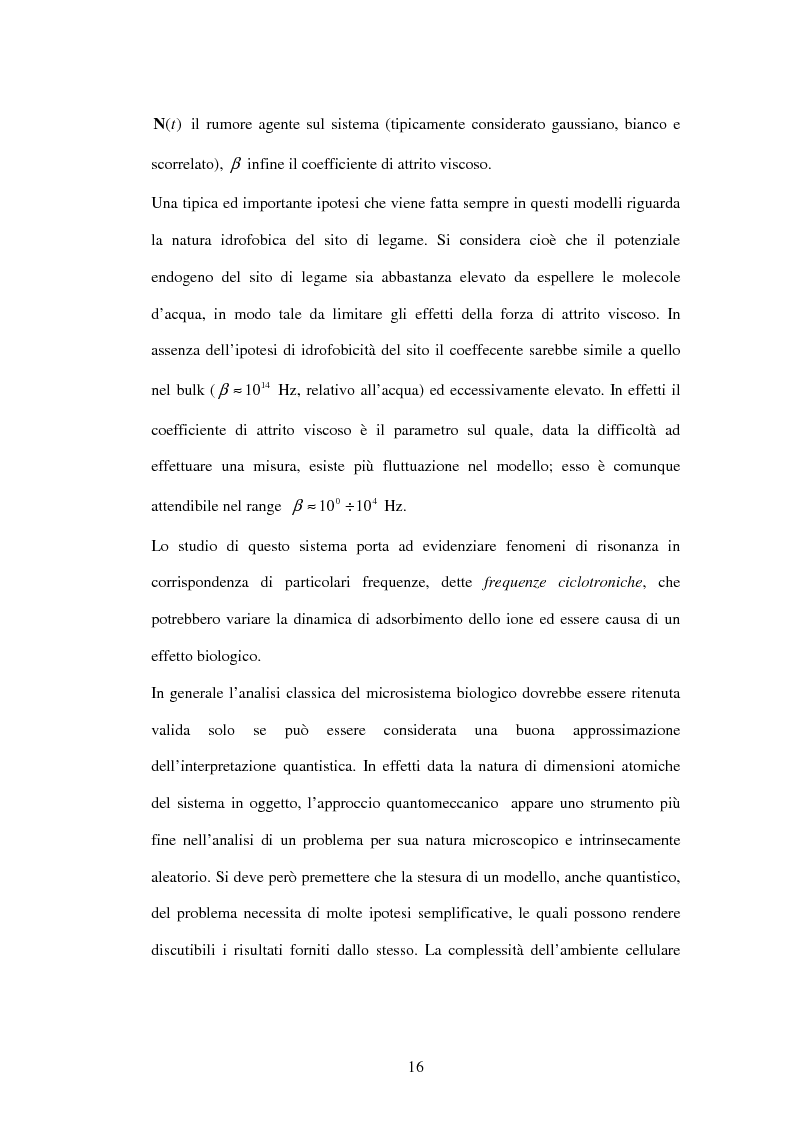 Anteprima della tesi: Modelli a risonanza parametrica dell'interazione bioelettromagnetica, Pagina 10
