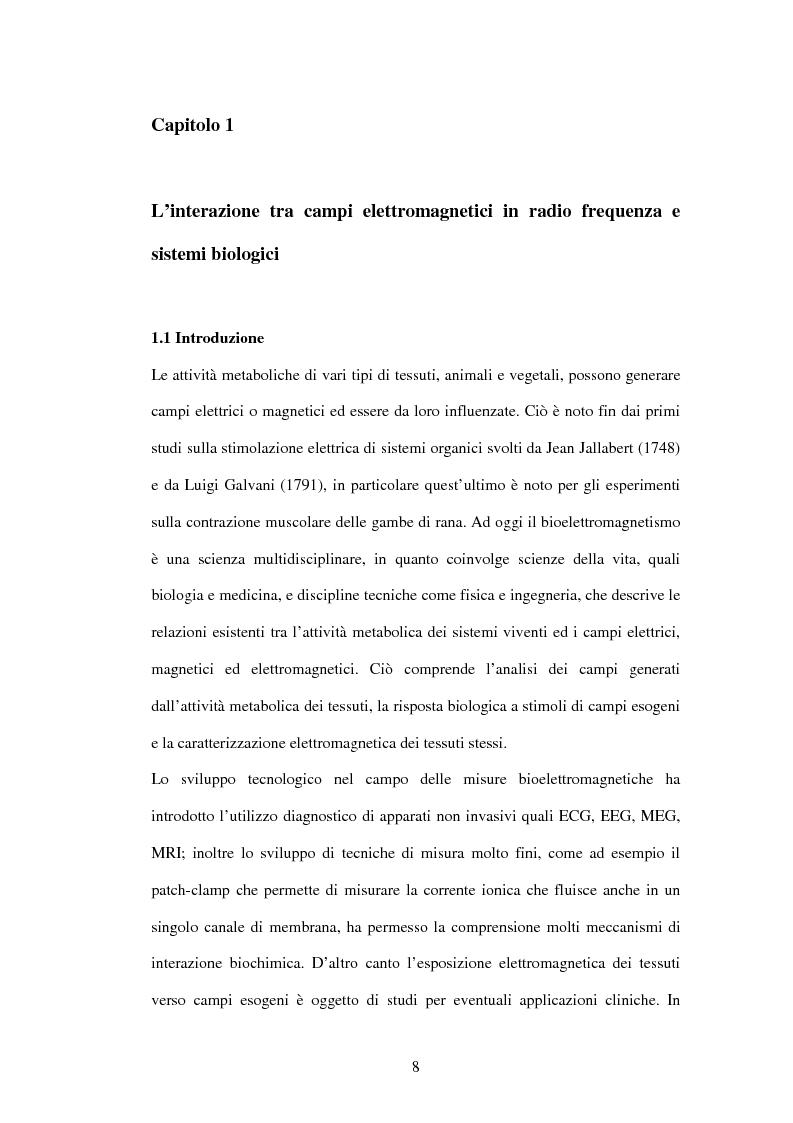 Anteprima della tesi: Modelli a risonanza parametrica dell'interazione bioelettromagnetica, Pagina 2