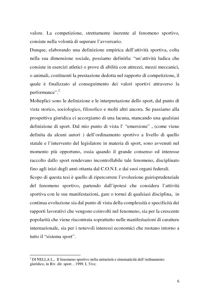 Anteprima della tesi: Il lavoro sportivo, Pagina 2